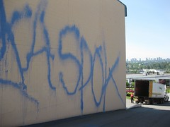 spok (slotmuerte) Tags: vancouver graffiti streaks bombing 604 benching