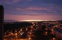 morning (kiiiiwiiii) Tags: morning sunset sky orange sunrise germany deutschland lights thringen erfurt lila sonnenaufgang ber