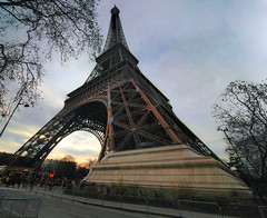 Eiffel Tower HDR.. (jimmedia) Tags: world city winter sky paris france building tower monument architecture europe eiffel tourist hdr twop