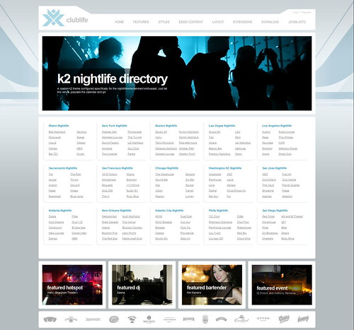 Clublife   May 2010 JoomlaXTC Template