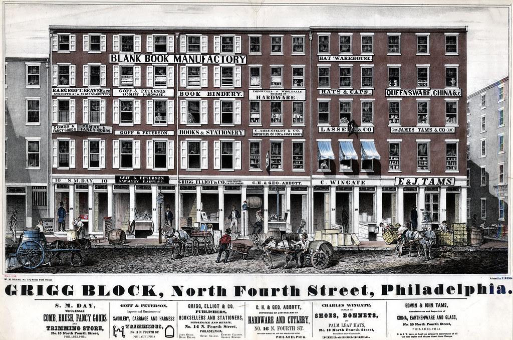 Grigg Block, North Fourth Street, Philadelphia, [1848]