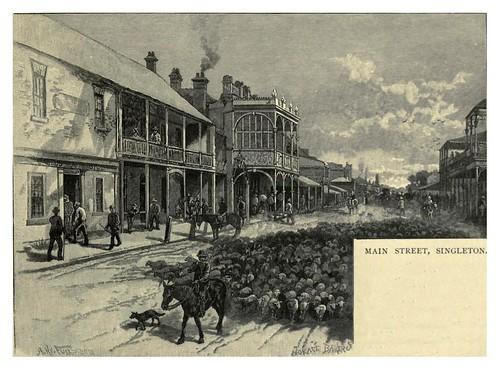 018-Main street-Singleton-Nueva Gales del Sur-Australasia illustrated (1892)- Andrew Garran