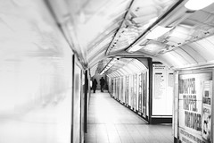 (dreamwhile) Tags: london dof tube backandwhite