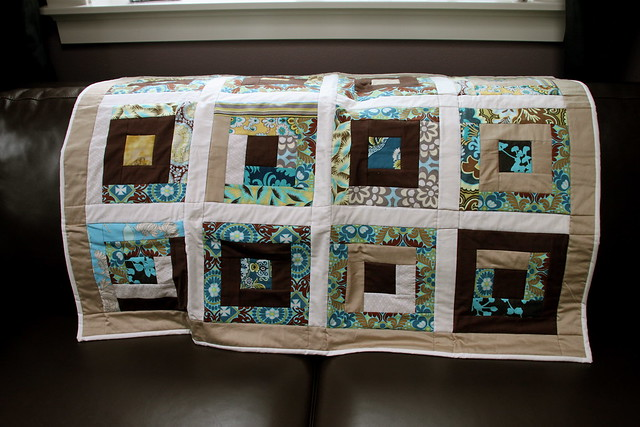 QfQ: Caramel and chocolate - quilt for sale!