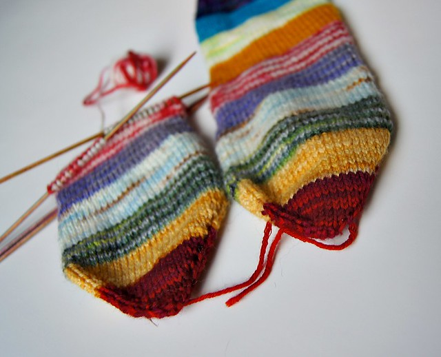 Striped Socks WIP