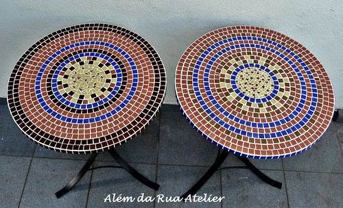tampos de mesa de mosaico