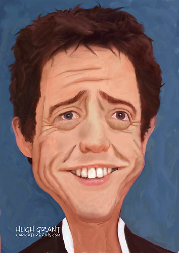 Caricature of Hugh Grant