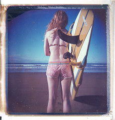 pale girls surf too (czuczy) Tags: polaroid mel morocco 88 expired