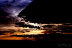 [sunset in multicolor] (NaNa [supergirl]) Tags: blue light sunset sea sky orange sun love clouds canon eos tramonto nuvole mare ray colours violet silhouettes cielo sole colori amore multicolor controluce raggi speranza felicità antignano 400d positività