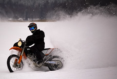 Rollin' (mikkko) Tags: winter lake driving racing ktm motorcycle sysmä