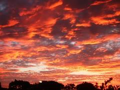 Sunset over San Luis Obispo (Prof. Elephant) Tags: california sunset clouds train nikon amtrak coolpix sanluisobispo 995 nikoncoolpix995 coaststarlight