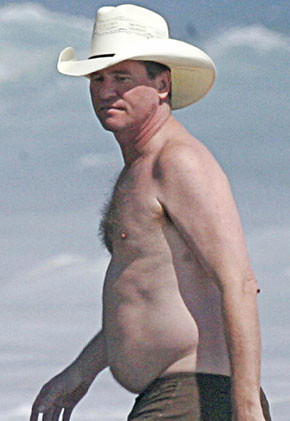 Val Kilmer and his man-breasts.