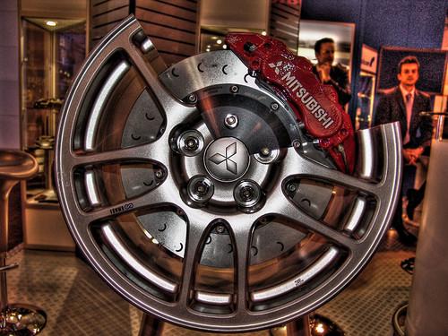 Autosport 2006 - Mitsubishi Brakes (Cross Section Of Alloy Wheel)