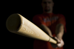 Baseball Bat (b*wag) Tags: b selfportrait me boston baseball bat redsox abcs beatdown explored strobist ab400 februarysalphabetfun