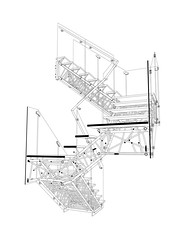 SECTION PERSPECTIVE DRAWING (Caliper Studio) Tags: detail metal architecture studio design stair drawing geometry perspective staircase metalwork sculptural genetic section scripting fabrication caliper digitaldrawing parametric perspectivedrawing geneticalgorithm rhinoscript sectiondrawing detaildrawing caliperstudio geneticstair lasercutpipe sectionperspectivedrawing sculpturalstair