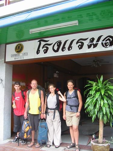 aan de deur van Asia Hotel