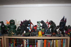 my Godzilla shelf (casio_beatnik) Tags: