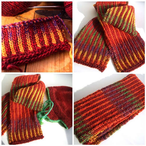 Inside-Outside Scarf