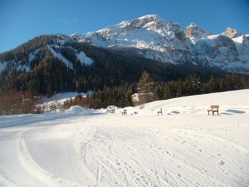 pista de ski de fondo