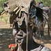 Tribal views: the Mursi: missing the lip-plate but with shell casings