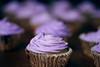 sweet cuppin cakes (ginnerobot) Tags: food recipe dessert 50mm cupcakes purple bokeh icing swirl hbw amysedariscupcakes kindofoutoffocus