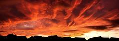 Leeds Sunset Panoroma (Jaymi Womack Photography) Tags: new uk sunset red england autostitch panorama orange west silhouette clouds village yorkshire leeds churwell