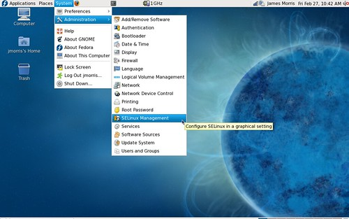 SELinux administration in Fedora 10