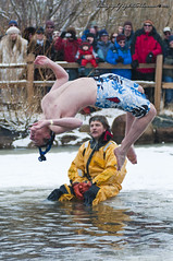 It's Flippin' Frozen Dead Guy Days (Mike Berenson - Colorado Captures) Tags: mountain snow cold ice festival back jump nikon colorado shed nederland grandpa flip 2009 brrr polarplunge d300 tuffshed cryogenics cryonics frozendeadguydays bredo