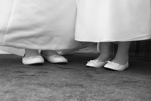 Bride & flower girl's matching flats