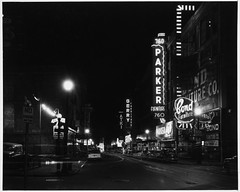 Signs at Night, Washington Street (MIT-Libraries) Tags: automobiles neonsigns streetlighting cityplanning massachusettsinstituteoftechnology documentaryphotography urbanareas bostonmass furniturestores signsnight cityandtownlife urbanplanningandenvironment kepeslynchphotographcollection urbanlanduse xmlns:dcterms=httppurlorgdcterms dcterms:identifier=httphdlhandlenet1721335316