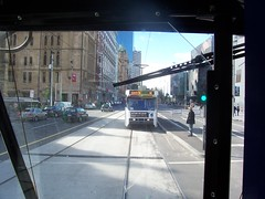 Through the Back Window (Tram Painter) Tags: tram melbourne aclass