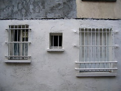 (Gabri Le Cabri) Tags: windows white paris wall grey beige bars shutters renovation paris13 75013 noncoloursincolour