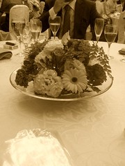 flower on a wedding table effected by Cool fx
