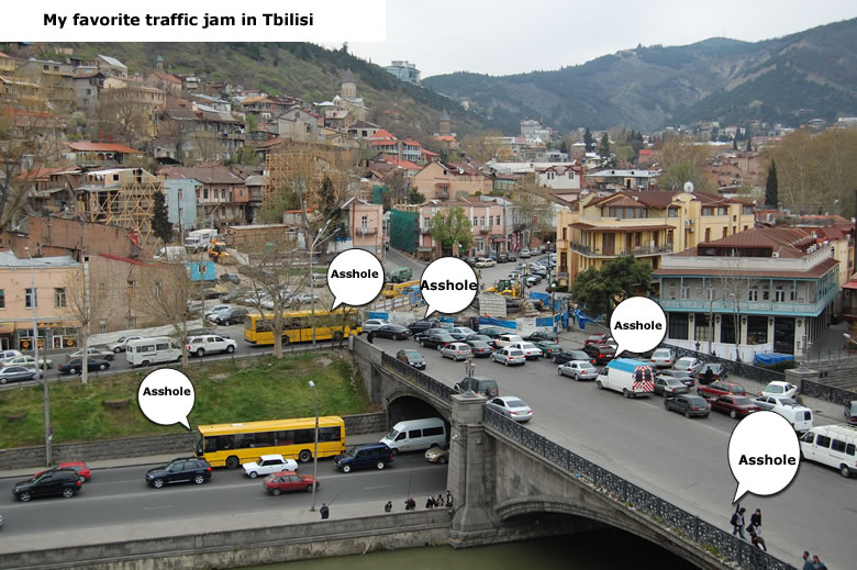favorite traffic jam Maidani Tbilisi