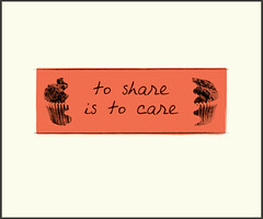 to share is to care (bryce driesenga) Tags: red west holland make collage illustration digital poster design big cool university day graphic state cut michigan olive ferris que rapids clean communication every font bryce illustrator script care muffin visual something share avant msced driesenga
