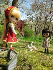 Ava likes the goose...