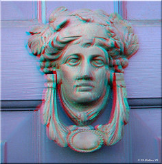 Federal Hill Door Knocker (starg82343) Tags: door 3d iron brian hill entrance anaglyph baltimore stereo wallace knocker federal