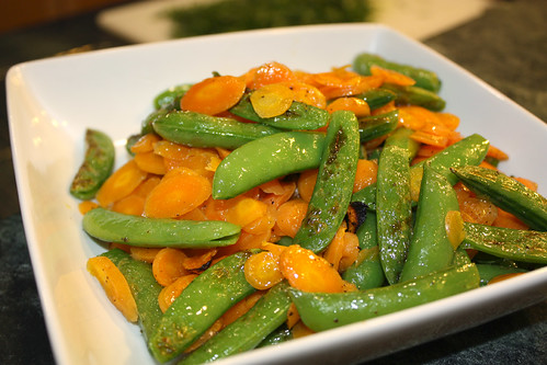 Broiled Peas and Carrots