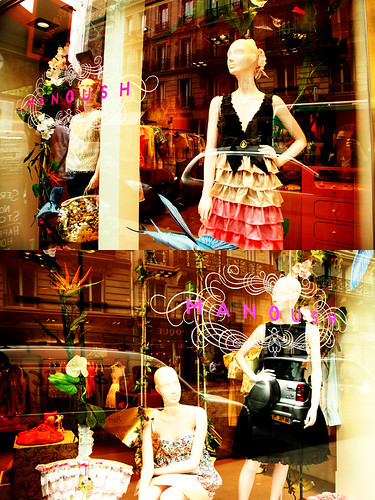 Paris Window Shopping Reflections