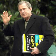 Bush carrying Presidents for Dummies