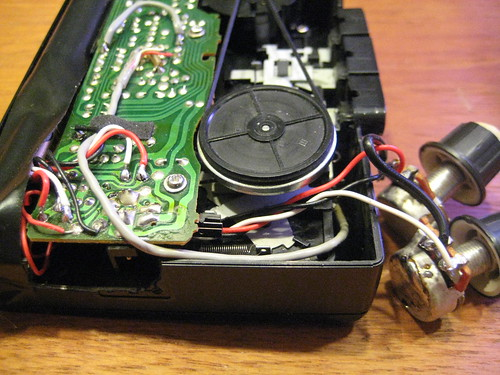 Circuit Bent Walkman - side view