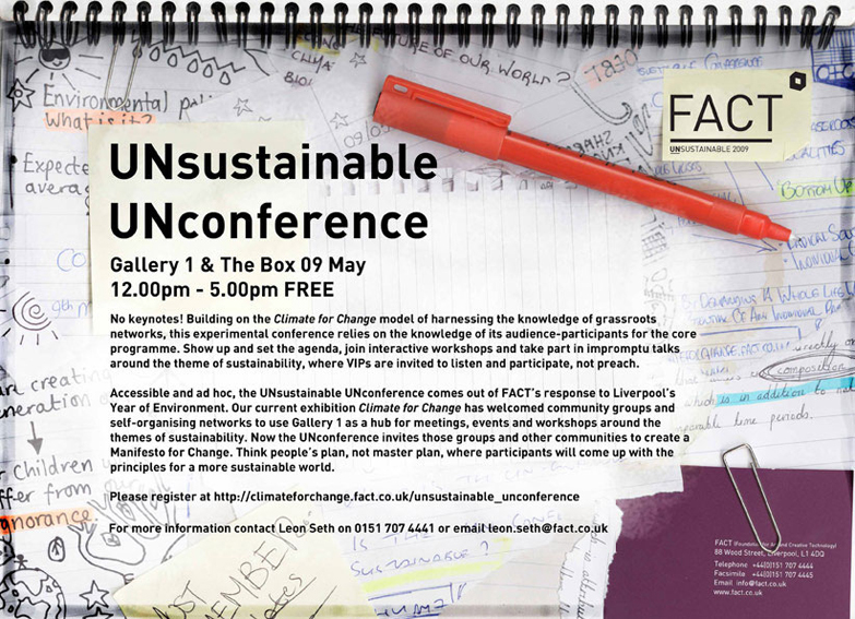 eFlyer for the Unsustainable Unconference