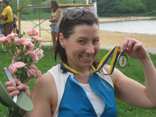 A medal and some flowers make everything better