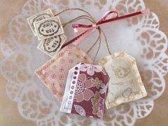 Lavender Teabags (PatchworkPottery) Tags: tea handmade sewing crafts lavender fabric teabag sachets