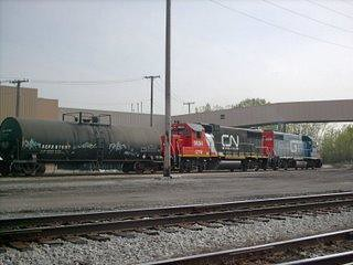 CN at Crawford Yard. Chicago Illinois. May 2007.