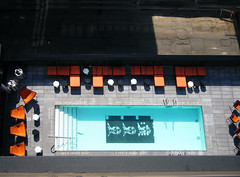 andy (there fore) Tags: city blue ny newyork pool architecture hotel lowereastside thompsonles