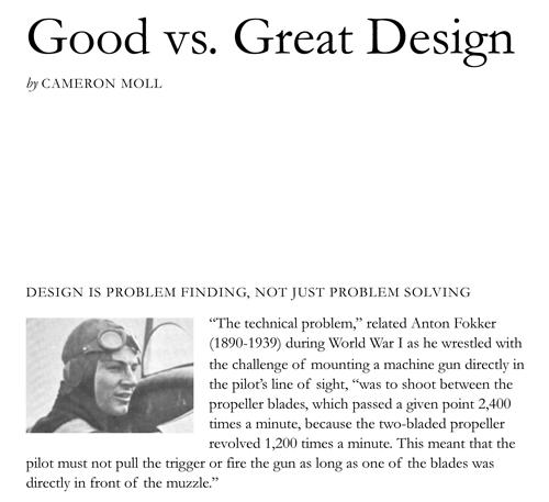good vs great design