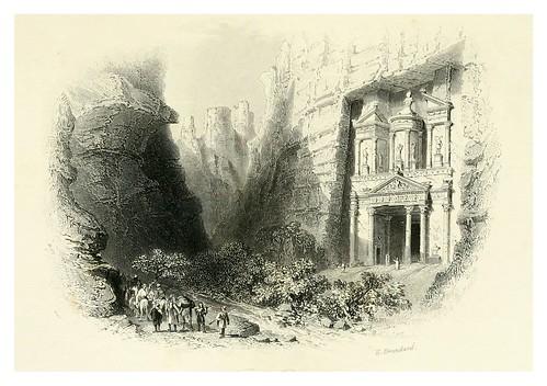 019-El Khusne desde la entrada del barranco-Bartlett, W. H. 1856
