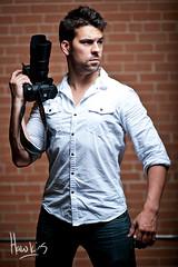 Brian Braun (michael spear hawkins) Tags: camera light man brick wall studio one michael nikon f14 brian flash young 85mm off attractive braun nikkor hawkins spear strobist d700 brianbraun michaelspearhawkins