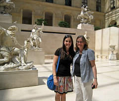 Miriam and I at the Louvre